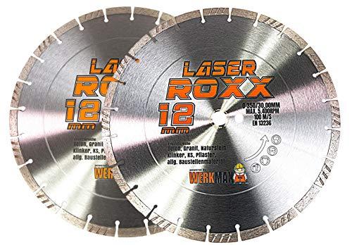 2er-SET | Neuentwicklung: Laser ROXX Diamantscheibe 350 x 30,00 mm | universal