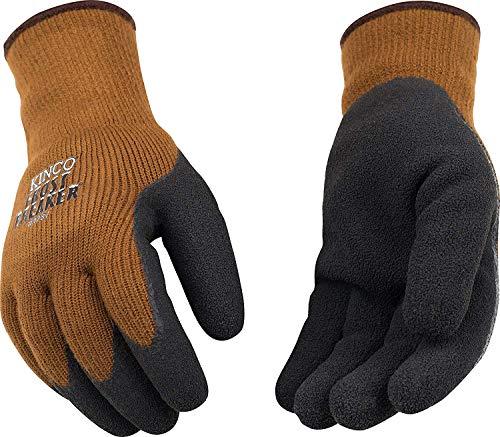 Kinco - Frost Breaker Heavy Thermal Work Gloves, Warm 7-Gauge Acryllic Knit Shell, Foam Latex Palm Grip, Fitted Knit Wrist, (Style No. 1787)