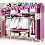 yunyu estantes para guardarropas Ropa Estantes para guardarropas portátiles Organizador de armarios portátil Armarios portátiles Organizador de armarios para guardarropas Estante para guardarropa