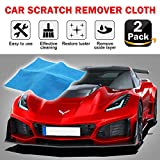 2 Pack Multipurpose Scratch Remover Cloth, 2019 Upgraded Car Paint Scratch...