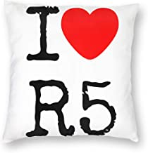19changjiu I Love R5 Pillowcase Zippered Throw Pillow Cover Soft Cotton Comfortable Picture Printed Custom Multiple Size