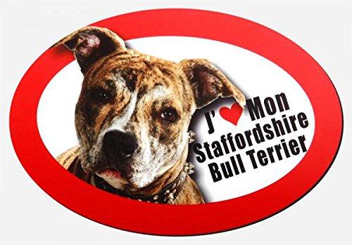 magnet j'aime mon stafforshire bull terrier