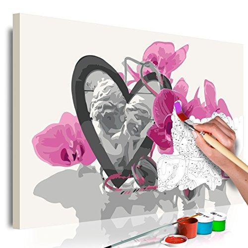 murando - Malen nach Zahlen Blumen & Engel 60x40 cm Malset mit Holzrahmen auf Leinwand für Erwachsene Kinder Gemälde Handgemalt Kit DIY Geschenk Dekoration n-A-0371-d-a