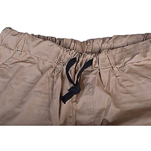 VICVIK Men's Fashion Outdoor Elastic Waistband Casual Jogger Pants Trousers (L, Kaki)
