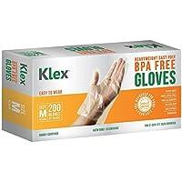 200-Count Klex Heavyweight Cast Poly Disposable Kitchen Gloves