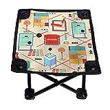 Bauhaus Furniture - Silla plegable pequeña, portátil, ligera, banco Oxford al aire libre para camping, pesca, senderismo