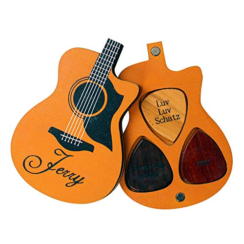 Personalized Wood Guitar Pick Holder