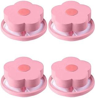 Generic Eariy Sac de filtre à peluches réutilisable en maille pour machine à laver, en forme de fleur, attrape-peluches, b...