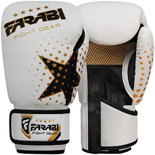 Guantoni da boxe per bambini, MMA, Muay thai junior guantoni da boxe bianco 170,1 g by Farabi