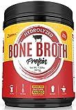Hydrolyzed Bone Broth Protein Powder - Grass Fed, Pasture Raised | Non-GMO, Paleo Friendly, Gluten Free - 601 Grams-Great for Weight Management, Digestive System, Healthy Hair & Skin
