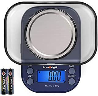 AccuWeight 255 Mini Digital Weight Scale for School Travel Jewelry Pocket Gram Scale..
