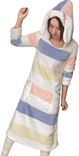 (アッシュランゲル)ASHERANGEL レディース ワンピース ルームウェア 長袖 もこもこ ふわふわ 耳付きパジャマ フード付き 靴下付き 暖かい ルームソックス 部屋着 冬 可愛い