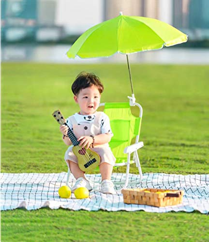 Kids Beach Chair Umbrella Outdoor Seat (Green)