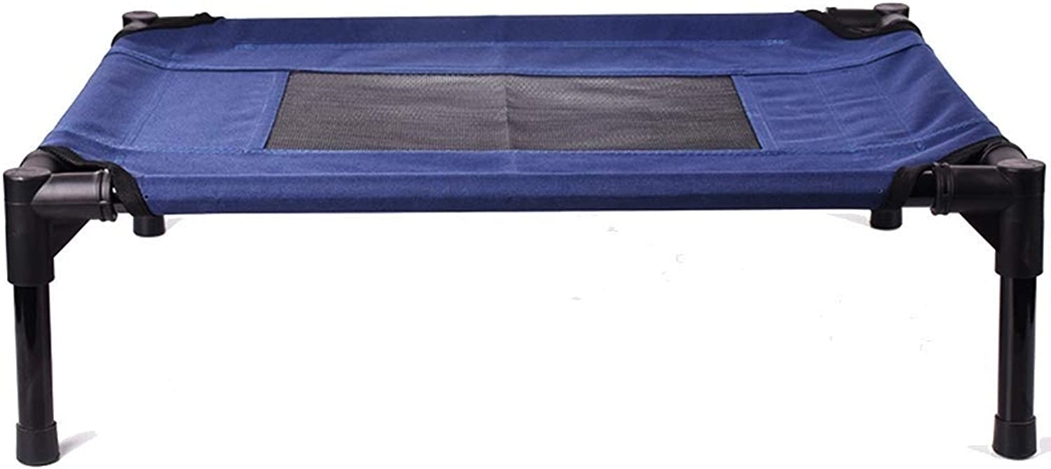 SSB Pbed R ed Elevated Pet Bed Thick And Easy to Clean Dog Bed Sleeping Sofa, Adatto per Indoor Travel, Vari Cani /Gatti /Animali Blu, Multisize Optional (Dimensione: M 76 6555330;60 _16cm)