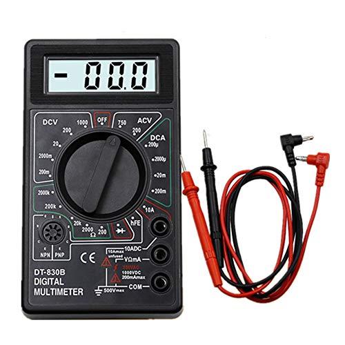 小型デジタルテスター マルチメーター テスター デジタルマルチメーター 電圧計 電流計 小型 マルチメーター DT-830B 多機能デジタルマルチテスター機器 LCDスクリーン 抵抗 電圧 電流 断線