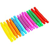 SCIONE Fidget Pop Toys-Mini Tube for Kids and Adults 21 Pcs,Pipe Sensory Tools for Stress and...