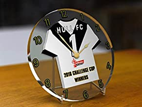 MyShirt123 HULL FC RUGBY LEAGUE FOOTBALL CLUB 2017 LADBROKES CHALLENGE CUP WINNERS BACK TO BACK CHAMPS!! COMMEMORATIVE DESKTOP CLOCK ACRYLIC SHIRT DESIGN !
