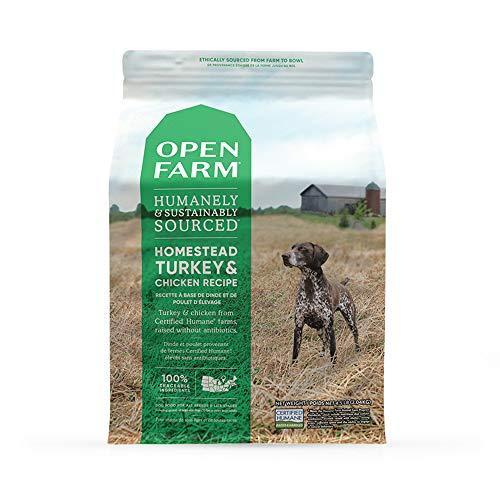 Open Farm Homestead Turkey and Chicken Grain-Free Dry Dog Food, 100%...