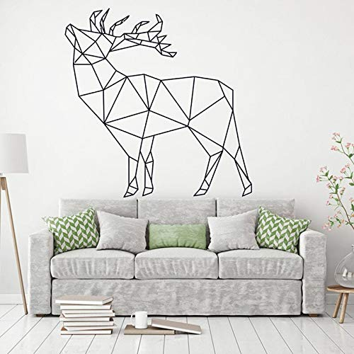Sika Deer Geometric Polygonal Wall Decal Animal Abstract Art Wall Sticker Home Decor Design Office Living Room Decals Other Color 42x42cm