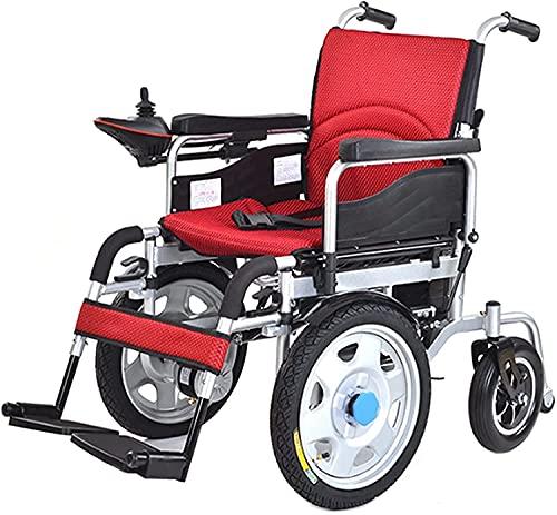 Silla de ruedas eléctrica Smart Front Front Thiflight FLORTE FLORTE FLORTE MOVILIDAD DE SILLA SILLA SILLA SILLA DE SILLACIONES PARA ADULTOS Y DISCADISTENTE,Rojo