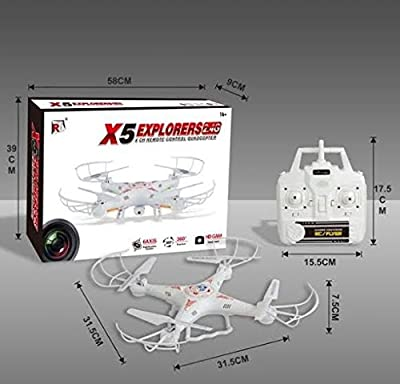 SGM® Quadcopter w/ HD Camera. Remote Control 6 Axis Gyro SGM555 Spy Explorers 4 Channel 2.4GHz