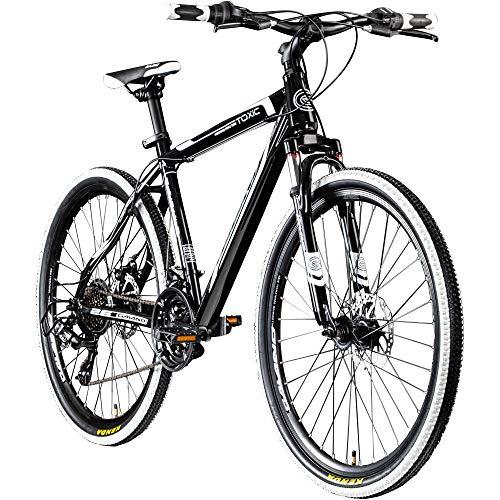 Galano 26 Zoll Toxic Mountainbike Hardtail MTB Jugendmountainbike Jugendfahrrad (schwarz/weiß, 46 cm)