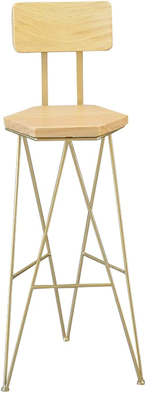 Bar Stool Modern Side Dining Chair Wood Seat Metal Legs Design Kitchen Restaurant Bar Pub Bistro High Stool Counter Height