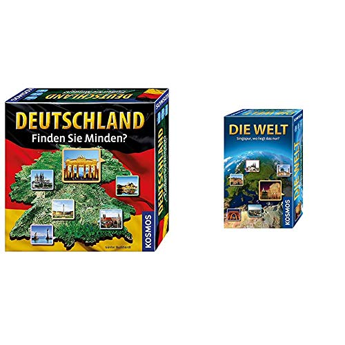 KOSMOS 692797 - Deutschland - Finden Sie Minden? & 711184 - Die Welt Mitbringspiel