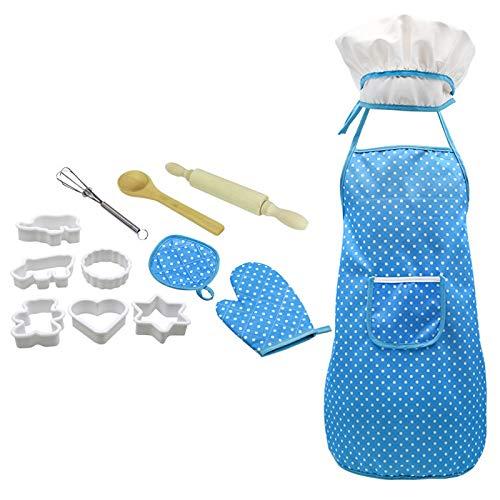 SODAL Juego de cocina y barbacoa para niños, juego de rol y juguetes educativos, adecuado para niños, entretenimiento de ocio, juguetes para padres e hijos (azul)