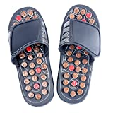 YaeKoo Foot Slippers Healthy Sandals Shoes Reflex Massage Slippers Acupuncture Shoe Foot Massager (S-Man (5-5.5)/Women (4.5-.5)) Black