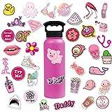 KATTERS 50 Cute Cartoon Girls Maleta Trolley Maleta Laptop Graffiti Stickers Pink Series Stickers