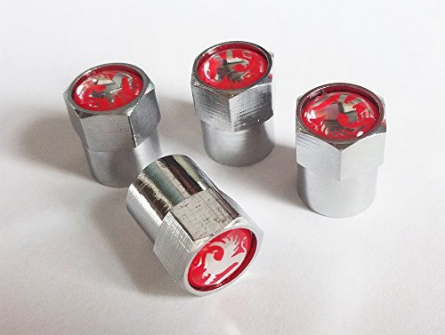 Vaux Chrome Wheel Valve Dust Caps. Corsa Astra Grandland Insignia Nova Mokka Monterey Movano Vivaro Zafira VX220 Viva