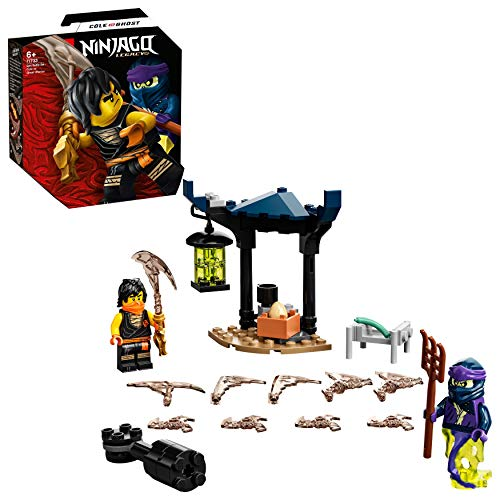 LEGO 71733 NINJAGO Battle Set: Cole vs. Geisterkämpfer, Spielset mit kreiselndem Actionspielzeug und 2 Ninja-Kämpfer Minifiguren