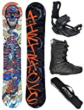 AIRTRACKS Snowboard Set - Tabla Diamond Heart Rocker 155 -...