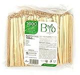 Bio 2000 Palette Legno Betulla per Caffe' COMPOSTABILI H 11 X 0.5 Cm monouso biodegradabile EN13432 2CONF