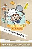 Estoy cocinando con mamá mis recetas favoritas - Libro de recetas en blanco para niños: Cuaderno para escribir receta - Libro de cocina personalizado para anotar 60 Recetas - Idea de regalo