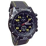 TOPOB Wristwatch, Fashion Men Military Quartz Watch Hours Analog Sport Wrist Watch Clock (Yellow)