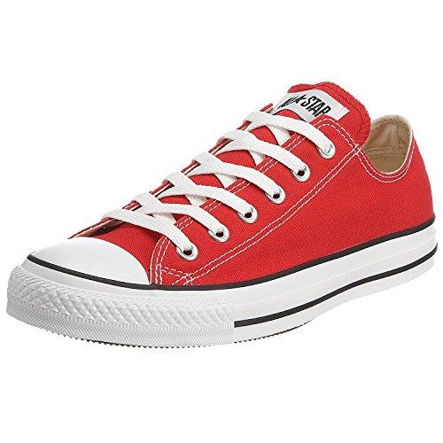 Zapato de baloncesto Unisex Chuck Taylor All Star Ox (Rojo, 9.5 B (M) US Mujeres / 7.5 D (M) US Men)