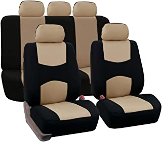 YXLcars Car Seat Covers,Universal Resistant Covers Set,For Two Front Seats And Five Seats,Auto Interior Accessories Universal Car Seat Cover Protector,Black+Orange Size : Full Set of Seat Covers
