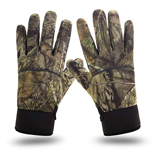 Camouflage Camo Hunting Gloves Full Finger Warm Windproof Gloves with Anti-Slip Palm Archery Accessories Hunting Outdoors for Men and Women