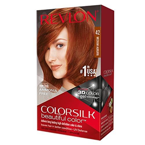 Revlon ColorSilk Hair Color, 42 Medium Auburn 1 ea (Pack of 6)