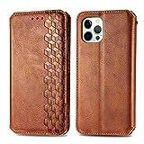 TOPOFU Leather Folio Case for iPhone 12 Pro Max, Premium