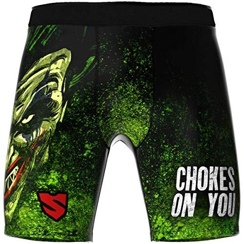 SMMASH The Choker Pro Shorts Vale Tudo Herren, Kampfsport Kurze Hose, Perfekt für BJJ, Krav Maga, MMA, Atmungsaktiv und Leicht Trainingshose für Männer, Boxershorts, Hergestellt in der EU (L)