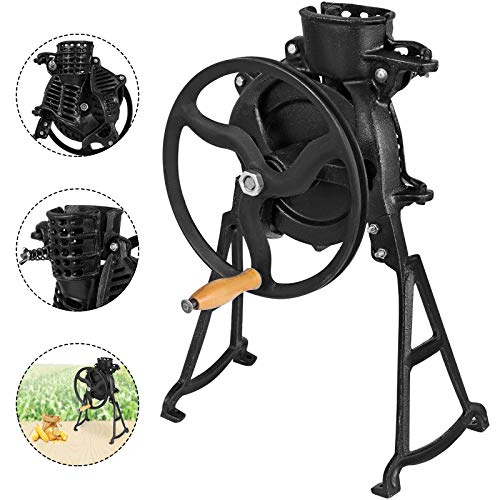 Happybuy Threshing Rate 98% Hand Corn Sheller with Wooden Handle Cast Iron Manual Corn Thresher Heavy Duty Corn Shelling Machine for Small Farm and Household Usage
