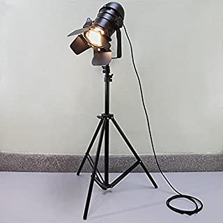 WYZ Toute Lampe de Maison Trépied Lampe de Sol Noire/Bar Industriel Creative Studio Lampe de Sol rétro Lampadaire (Couleur...