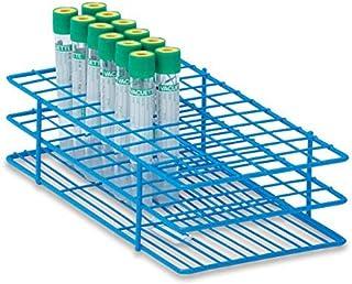 """قفسه لوله 16 میلی متر برای آزمایش لوله های 10 میلی لیتر متوسط دارای 72 لوله 9.5 """"L x 5"""" W x 2.5 """"H"""