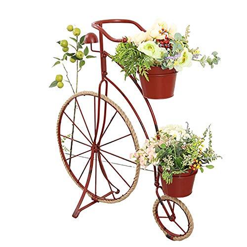 aasdf Soporte de Metal para Plantas de Bicicletas, macetero de Flores para Bicicletas para Interiores y Exteriores Macetero para Bicicletas de Hierro Forjado Soporte para Flores Soporte de exhibic