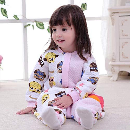 Pijama de bebé Unisex bebé saco de dormir de 6-18 meses de primavera y otoño mangas desmontables de algodón suave antichoque Piernas de habitaciones con aire acondicionado split de una sola pieza pija