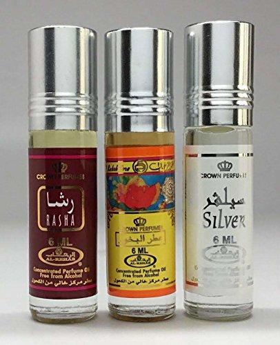 Al-Rehab 6ml Perfume Oils - Bestsellers 10 thru 12 - Rasha - Bakhour – Silver