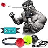 Bola Reflex de Boxeo, Bola de Entrenamiento de Boxeo 3 Bola de Boxeo de Nivel de Dificultad con Banda para la Cabeza, para Entrenamiento, Coordinación de Mano-Ojo y Fitness.